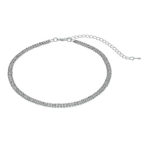Crystal Avenue Cup Chain Choker Necklace