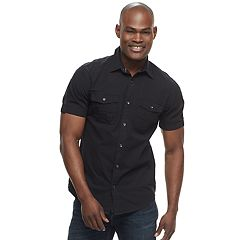 Men's Rock & Republic Solid Ripstop Button-Down Shirt