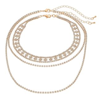 Crystal Avenue Choker & Double Strand Necklace Set