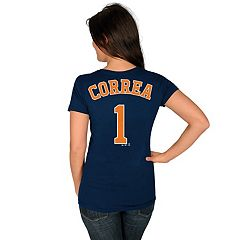 Women's Houston Astros Carlos Correa Name and Number Tee