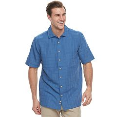 Men's Batik Bay Classic-Fit Textured Plaid Button-Down Shirt