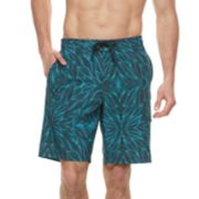 Big & Tall SONOMA Goods for Life™ Wave Doodle Swim Trunks