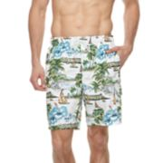 Big & Tall Croft & Barrow® Tropical Island Printed Swim Trunks