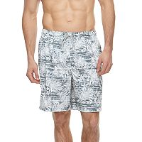 Big & Tall Croft & Barrow® Palm Leaf Printed Swim Trunks