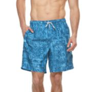 Big & Tall Croft & Barrow® Tribal Printed Swim Trunks