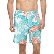 Big & Tall Croft & Barrow® Tropical Palm Leaf Printed Swim Trunks