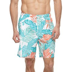 Big & Tall Croft & Barrow® Tropical Palm Leaf Printed Swim Trunks
