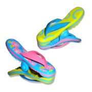 Boca Clips Tropical Flip Flop 2-pack Beach Towel Clips