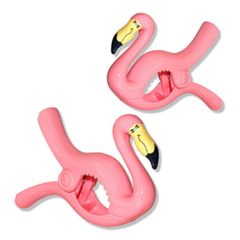 Boca Clips Flamingo 2-pack Beach Towel Clips
