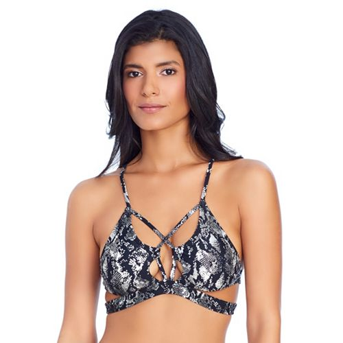 e13c38c683 Women's Ibiza Strappy Snake Skin Print Bikini Top