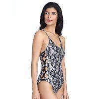 Women's Ibiza Snakeskin Foil One-Piece Swimsuit