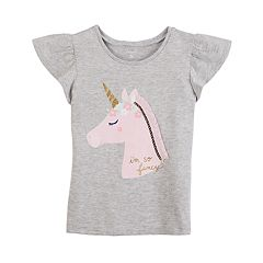 Girls 4-8 Carter's 'I'm So Fancy' Unicorn Flutter Tee
