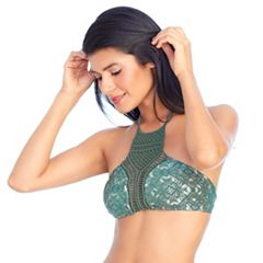 Women's Ibiza Macramé High-Neck Bikini Top