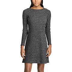 Women's Chaps Rib-Knit Fit & Flare Dress