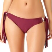 Juniors' California Sunshine Shell Side-Tie Hipster Bikini Bottoms
