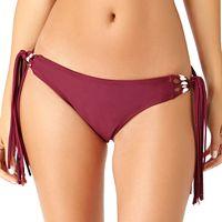 Juniors' California Sunshine Shell Side-Tie Hipster Bikini Bottoms