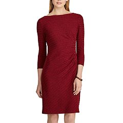 Women's Chaps Knit Bateau neckline Sheath Dress
