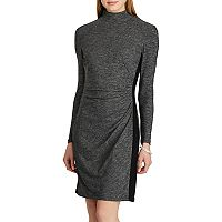 Women's Chaps Mockneck Jersey Sheath Dress