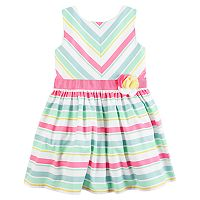 Girls Carter's 4-8 Sleeveless Multi Stripe Dress