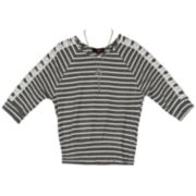 Girls 7-16 IZ Amy Byer Lattice 3/4-Sleeve Top with Necklace