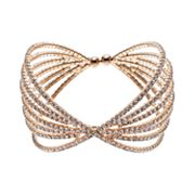 Crystal Avenue Bow Cuff Bracelet