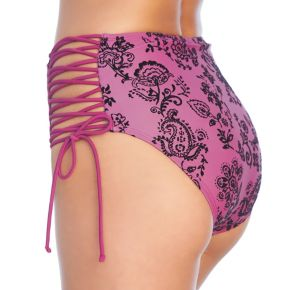 Women's Ibiza High-Waisted Lace-Up Bikini Bottoms