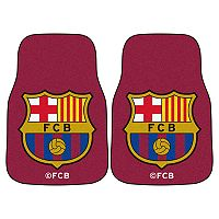 FANMATS FC Barcelona 2-Pack Carpet Car Mat Set