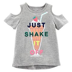 Girls 4-8 Carter's 'Just Shake It Off' Graphic Cold-Shoulder Tee