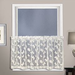 United Curtain Co. Madame Butterfly Tier Kitchen Window Curtain Set