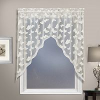 United Curtain Co. Madame Butterfly Swag Kitchen Window Valance