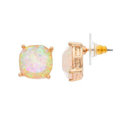 Crystal Avenue Sequined Stone Drop Earrings