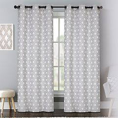 United Curtain Co. 2-pack Mystique Window Curtains