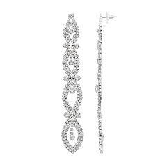 Crystal Avenue Marquise Linear Earrings