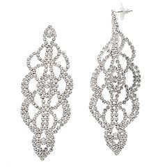 Crystal Avenue Filigree Drop Earrings