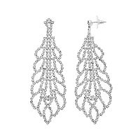 Crystal Avenue Scalloped Drop Earrings