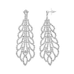 Crystal Avenue Scalloped Drop Earrings