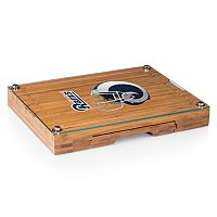 Picnic Time Los Angeles Rams Concerto Bamboo Cutting Board and Cheese Tools Set