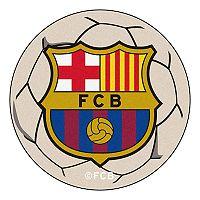 FANMATS FC Barcelona Soccer Ball Floor Mat
