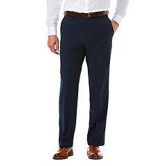Big & Tall Haggar® Cool 18® PRO Classic-Fit Wrinkle-Free Flat-Front Expandable Waist Pants