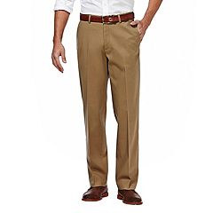Big & Tall Haggar® Premium No-Iron Stretch Classic-Fit Flat-Front Khaki Pants