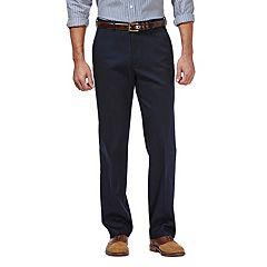 Big & Tall Haggar® Premium No-Iron Stretch Classic-Fit Flat-Front Khaki Pants
