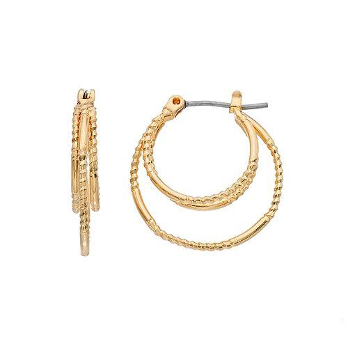 Napier Twisted Multi Hoop Earrings