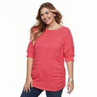 Plus Size Apt. 9® Textured Stripe Top
