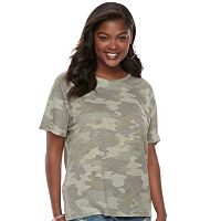 Juniors' Plus Size Mudd® Weekend Crewneck Tee