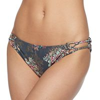 Mix and Match Foiled Floral Hipster Bikini Bottoms