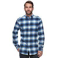 Big & Tall Croft & Barrow® True Comfort Plaid Classic-Fit Flannel Button-Down Shirt