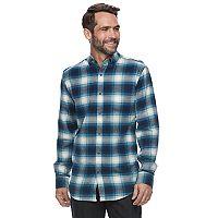 Men's Croft & Barrow® True Comfort Plaid Slim-Fit Flannel Button-Down Shirt