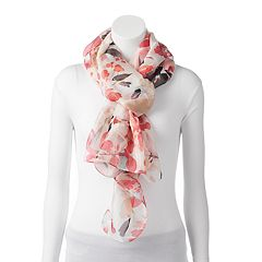 Apt. 9® Painterly Floral Chiffon Oversized Oblong Scarf