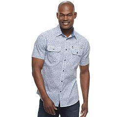 Men's Rock & Republic Printed Woven Button-Down Shirt