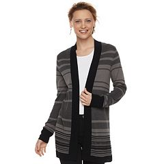 Women's Apt. 9® Striped Cardigan